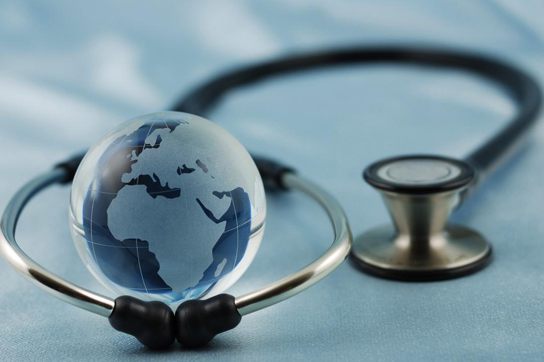 Stethoscope with globe