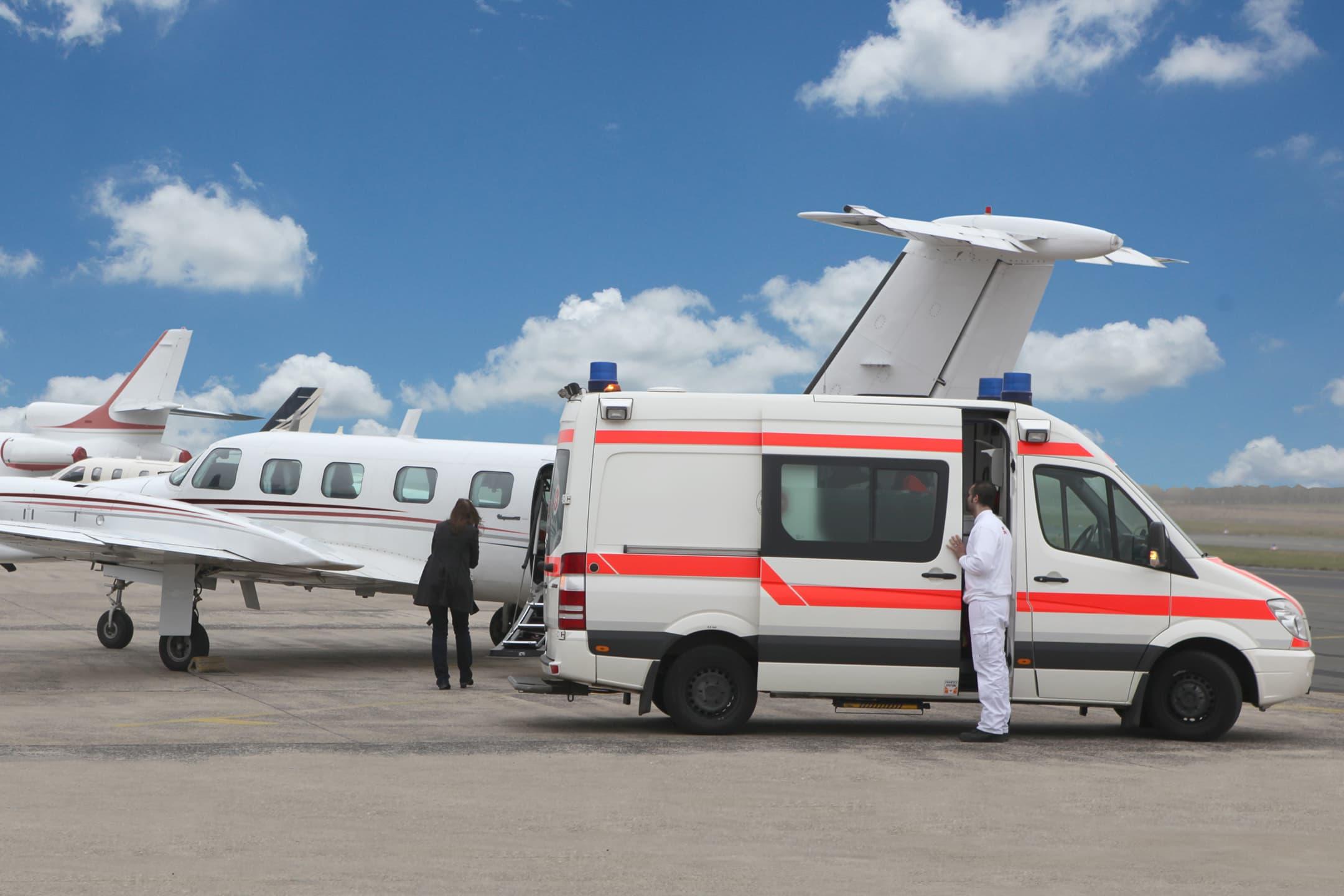 Ambulanzflugzeug – schnell und sicher