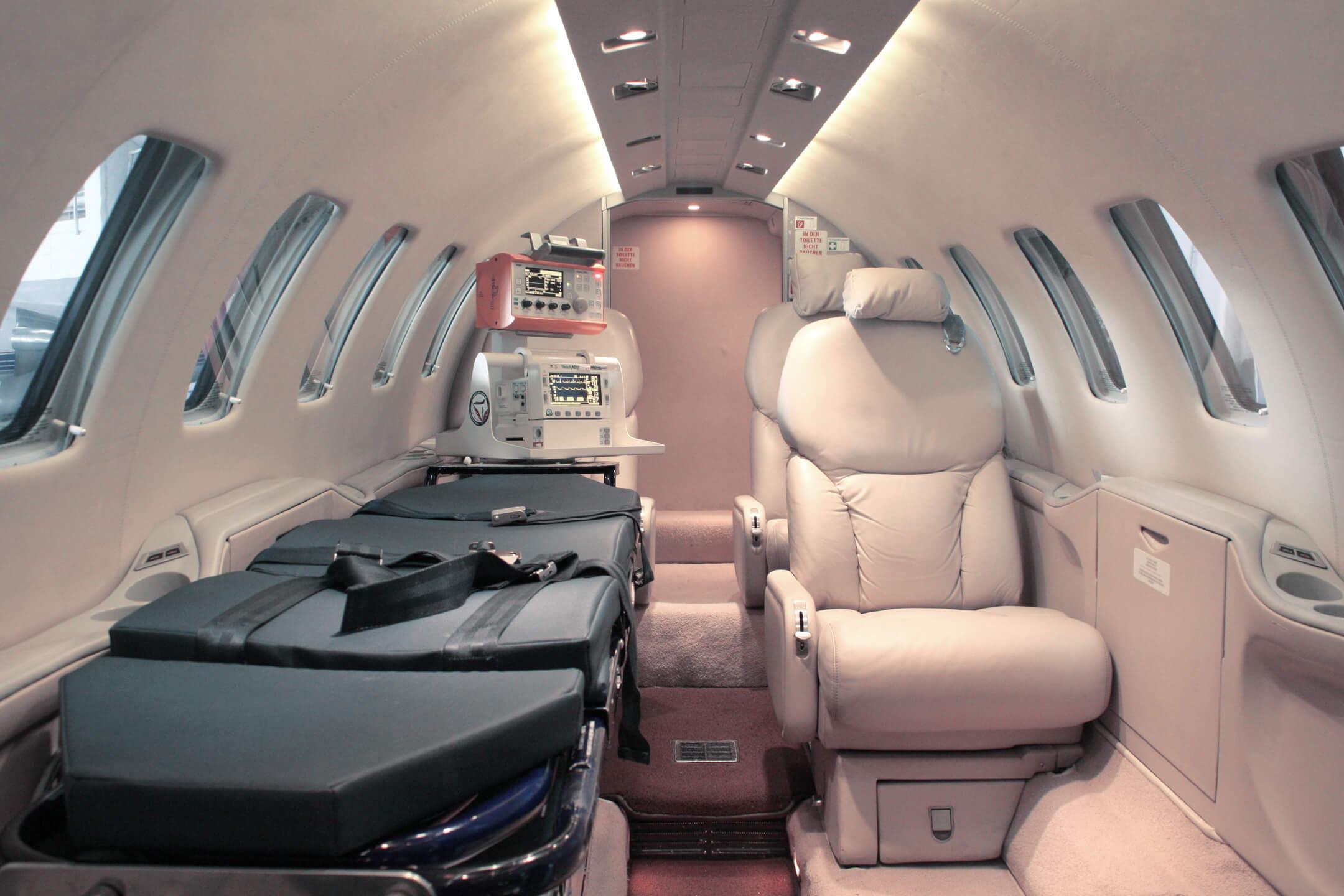 Ambulance jet interior