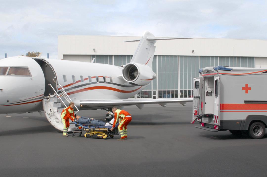 Come trasportare un malato in aereo