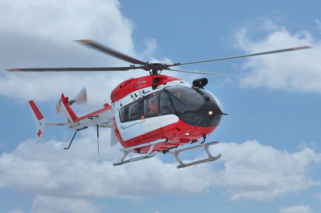 Transport en hélicoptère ambulance