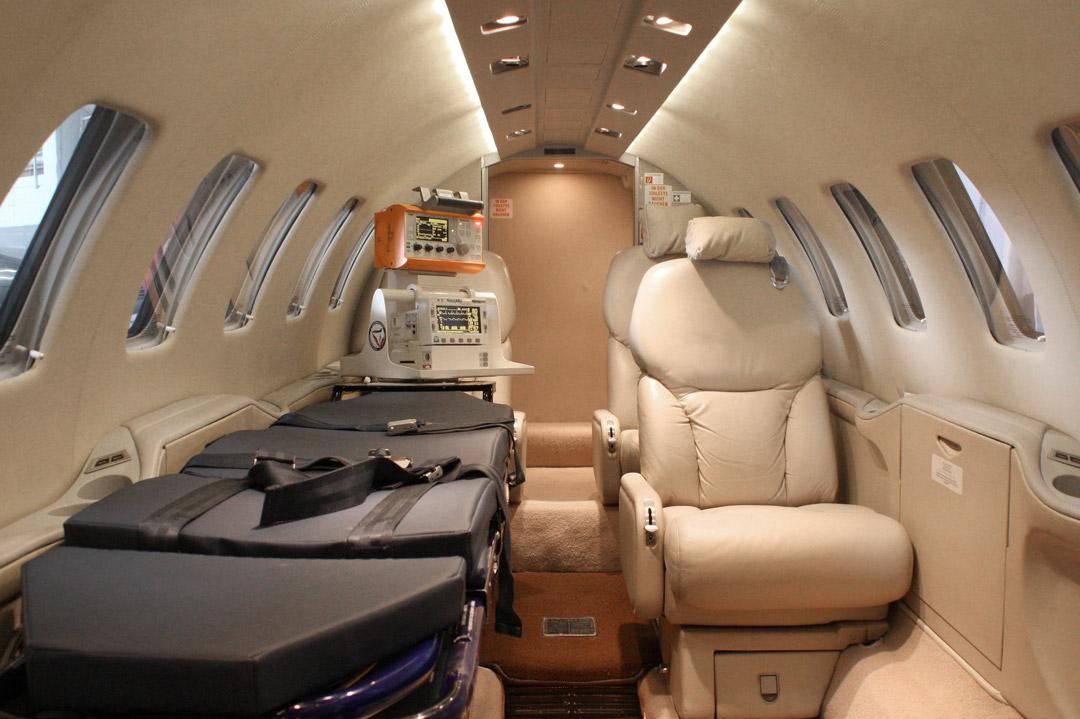Die Ausstattung eines Ambulanzflugzeugs
