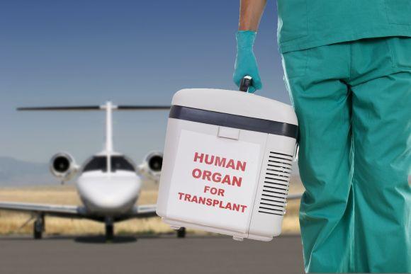 Organ transport by ambulance jets