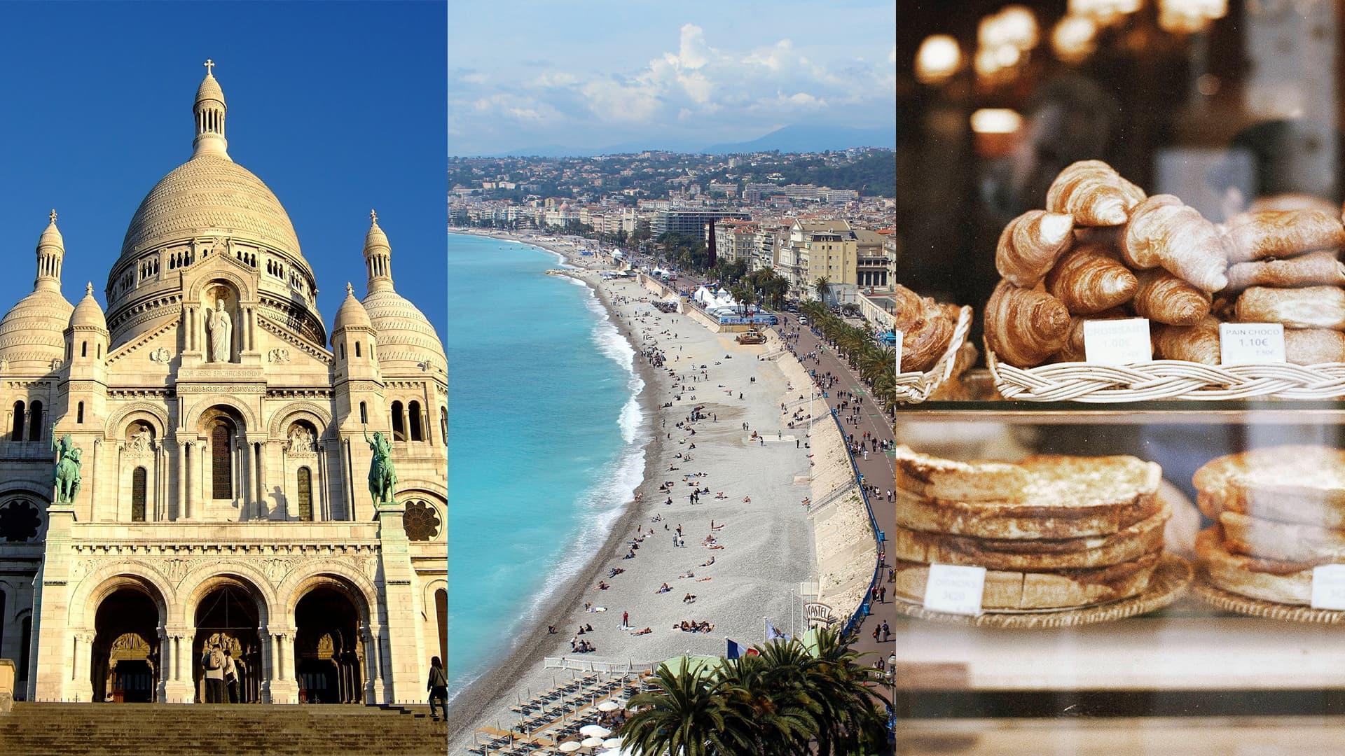 Impressionen Frankreich: Sacré Coeur, Strand, Croissants