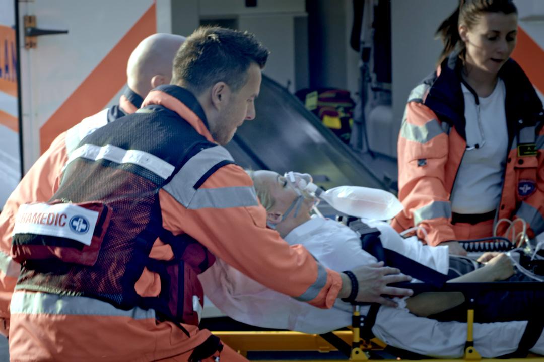 Beatmeter Patient mit medizinischem Team