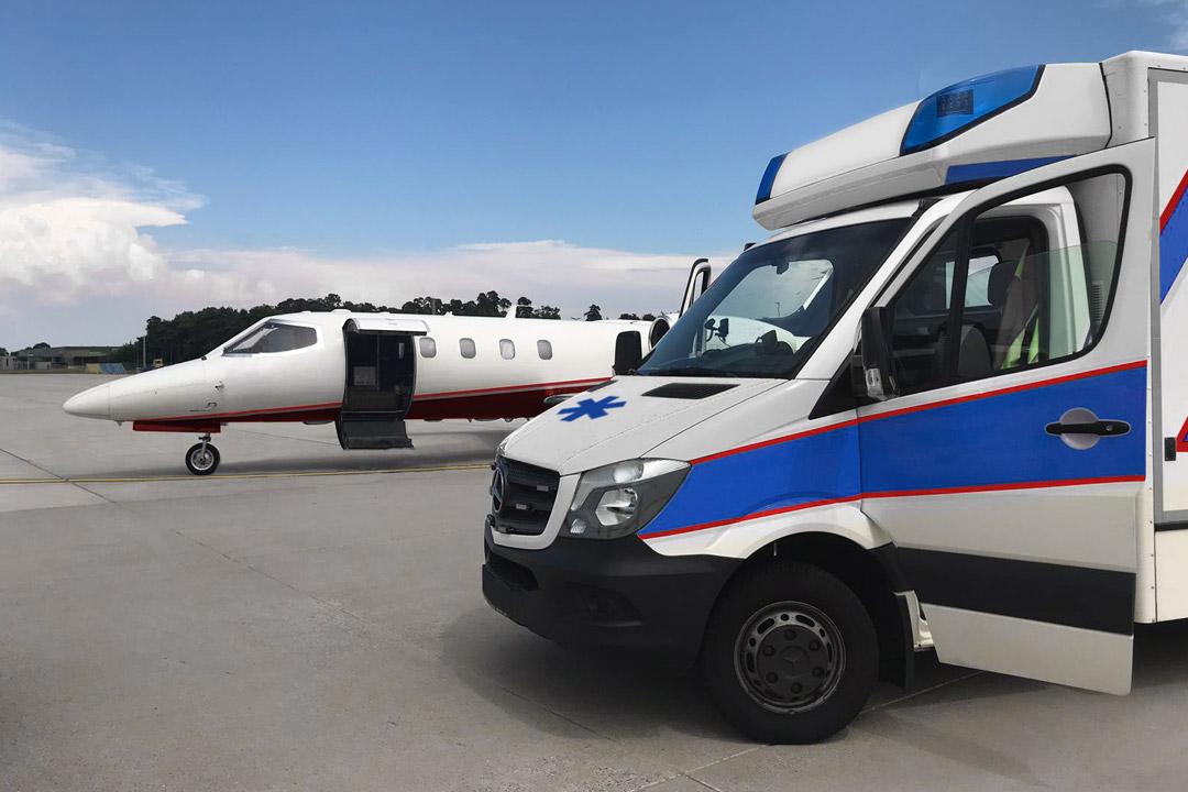 Rapatriement en avion sanitaire