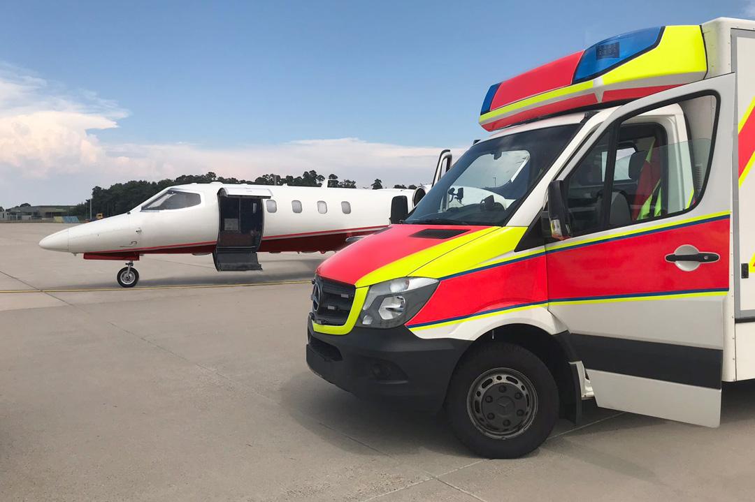 Auslandsrückholung im Ambulanzflugzeug