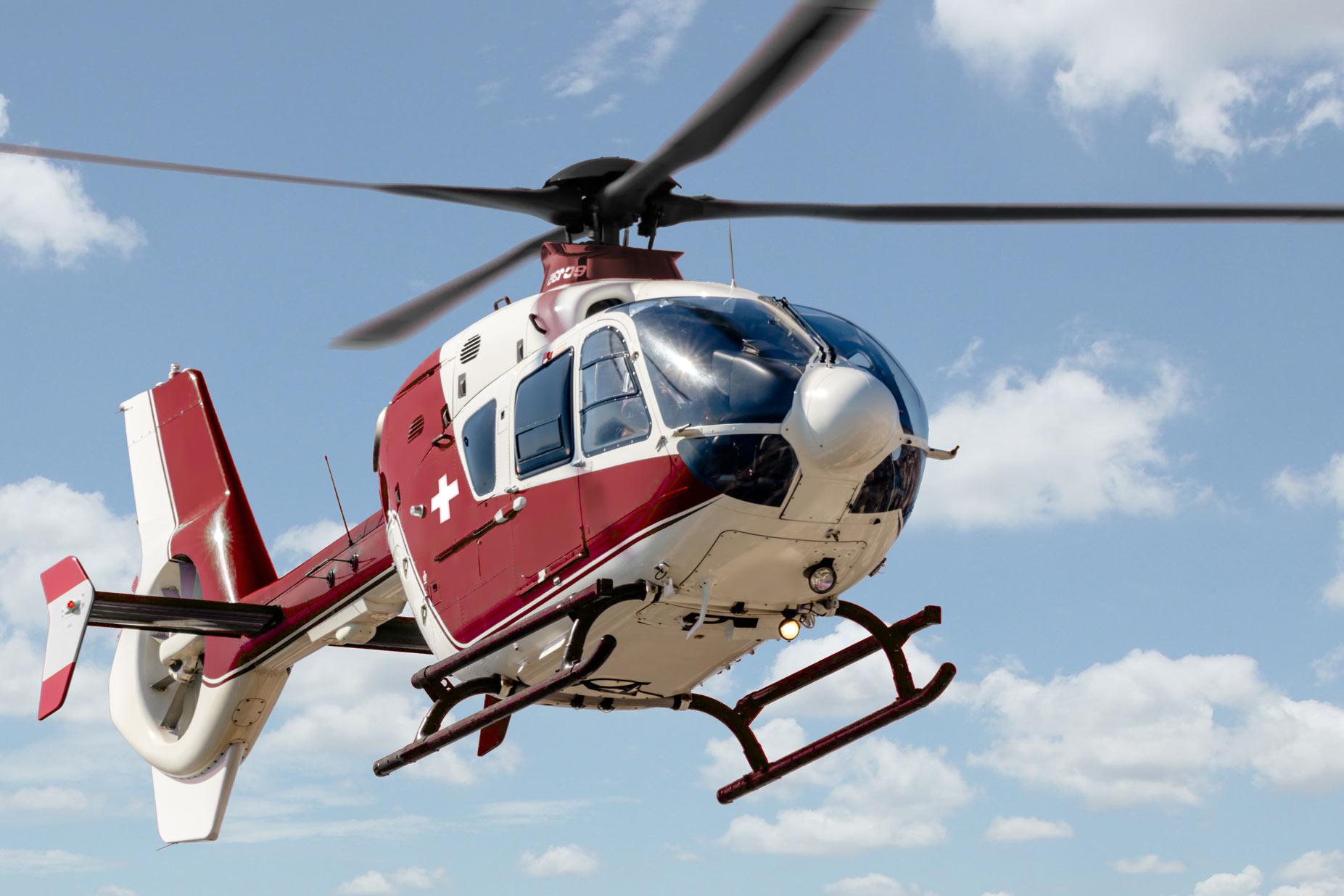 Auslandsrückholung im Helikopter