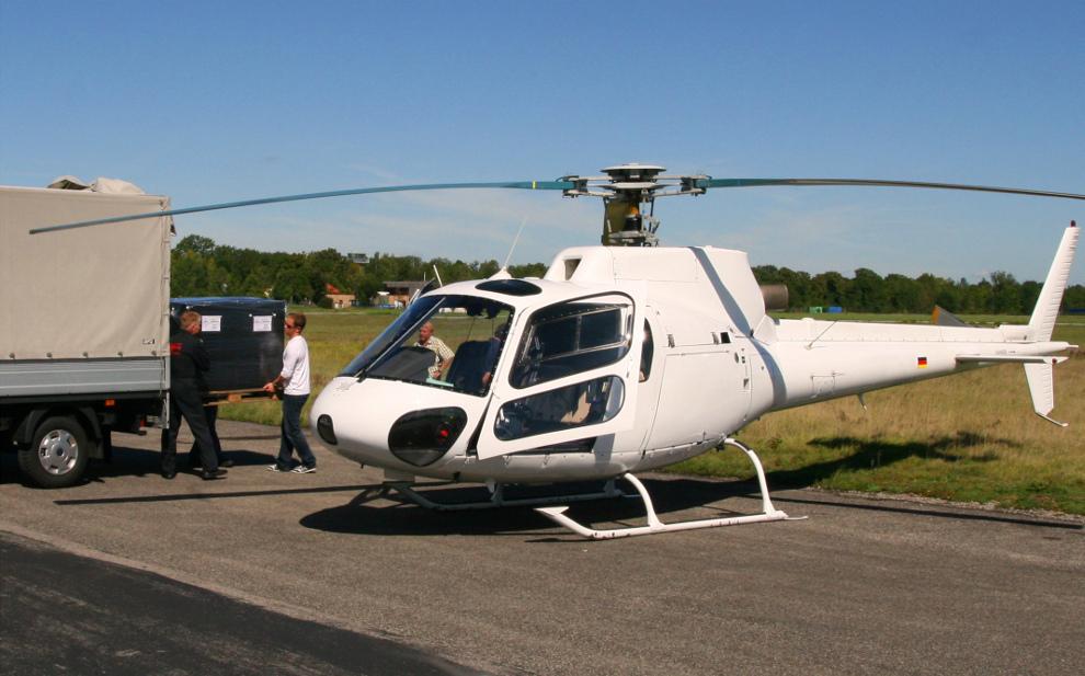 Eiltransport im Hubschrauber