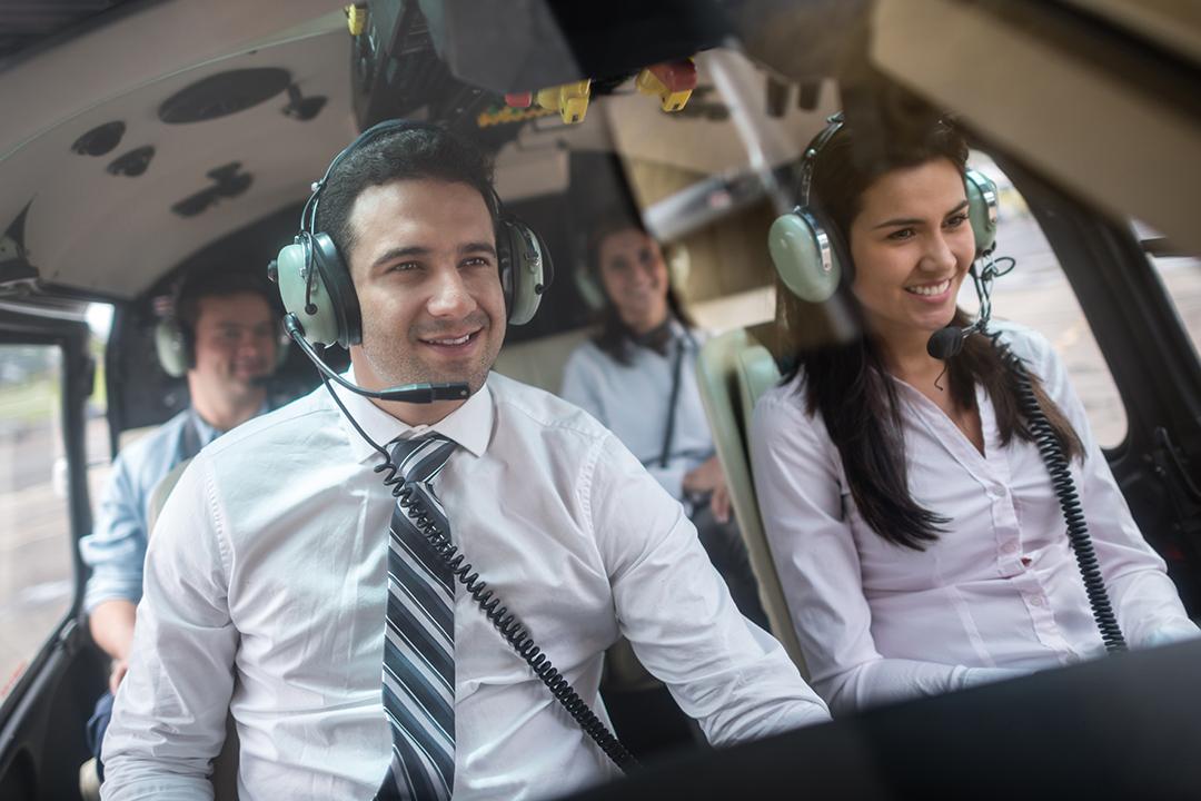 Gruppencharter im Helikopter