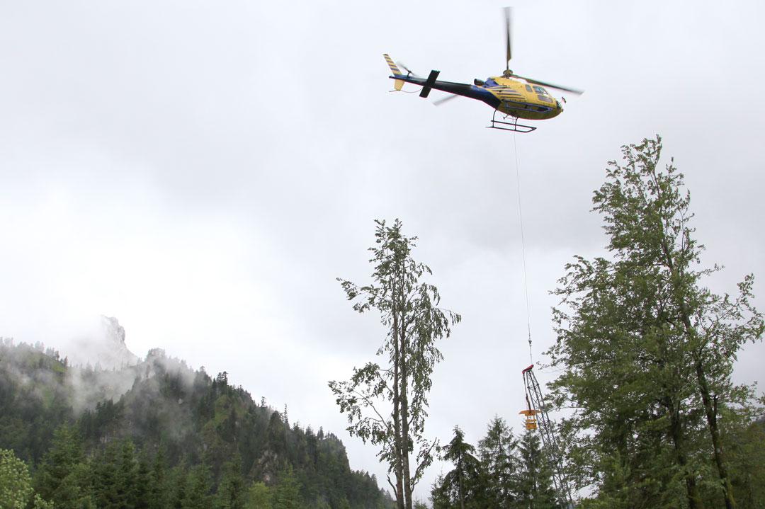 Lastenhelikopter in Füssen
