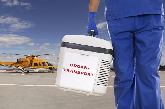 Organtransport im Hubschrauber