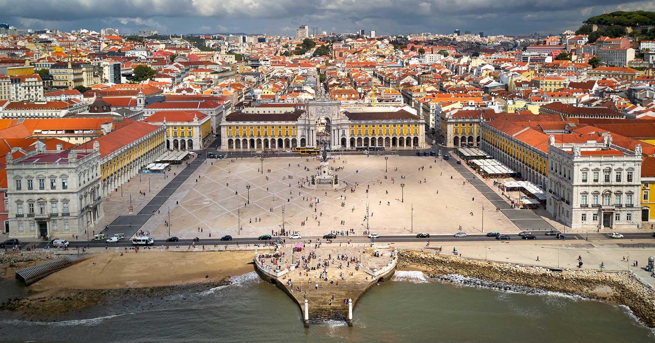 Lastenflug Hubschrauber Lissabon