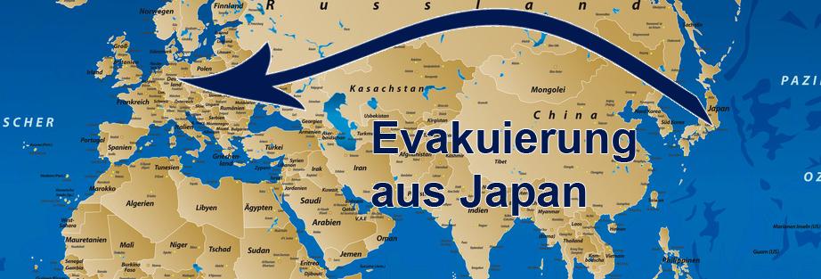 Evakuierung aus Japan