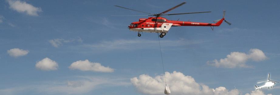 helikopter sandsaecke hochwasser