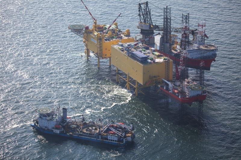 Luftbild Offshore-Filmflug