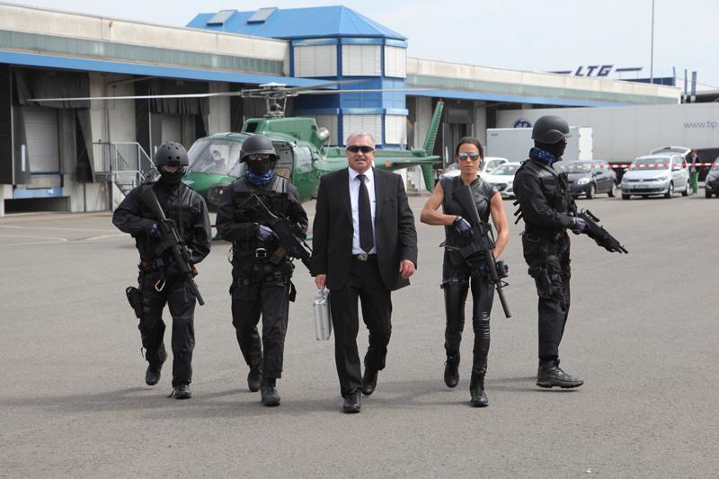 Sicherheitsteam aus Stuntleuten