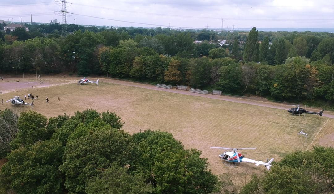 Im Helikopter zum Hockenheimring