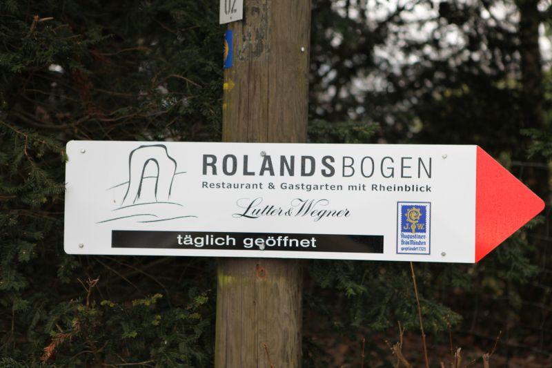 Lastenflug am Rolandsbogen