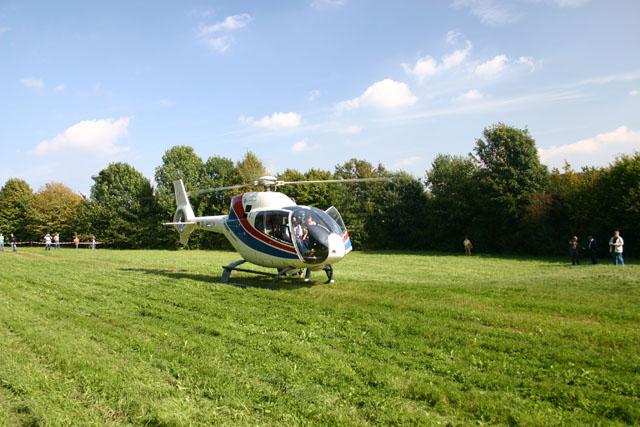 Helikopter für Schlagersänger