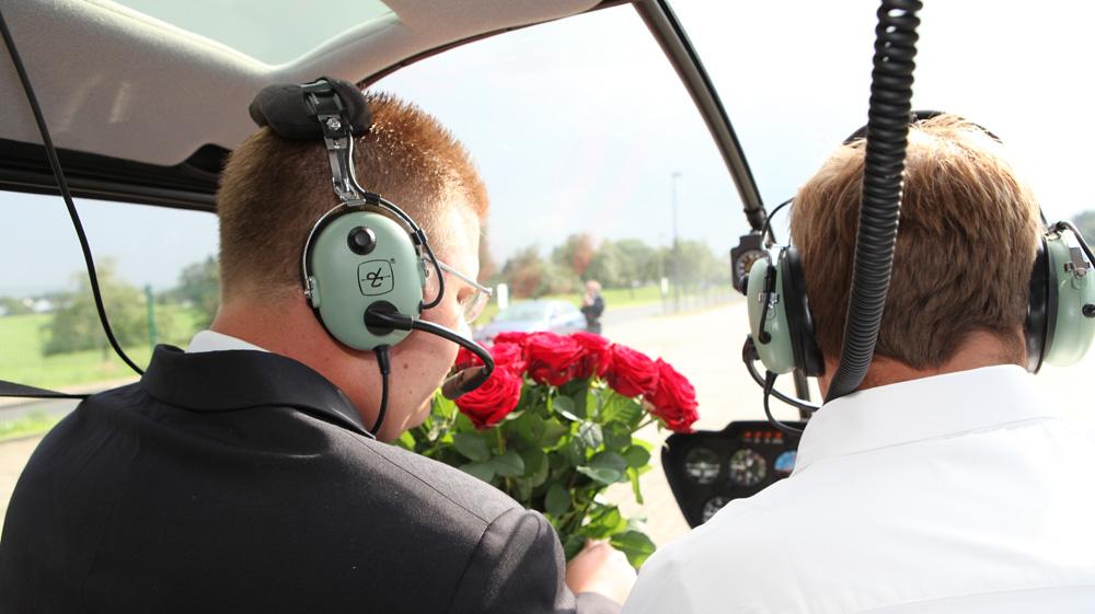 Hubschrauber zur Verlobung