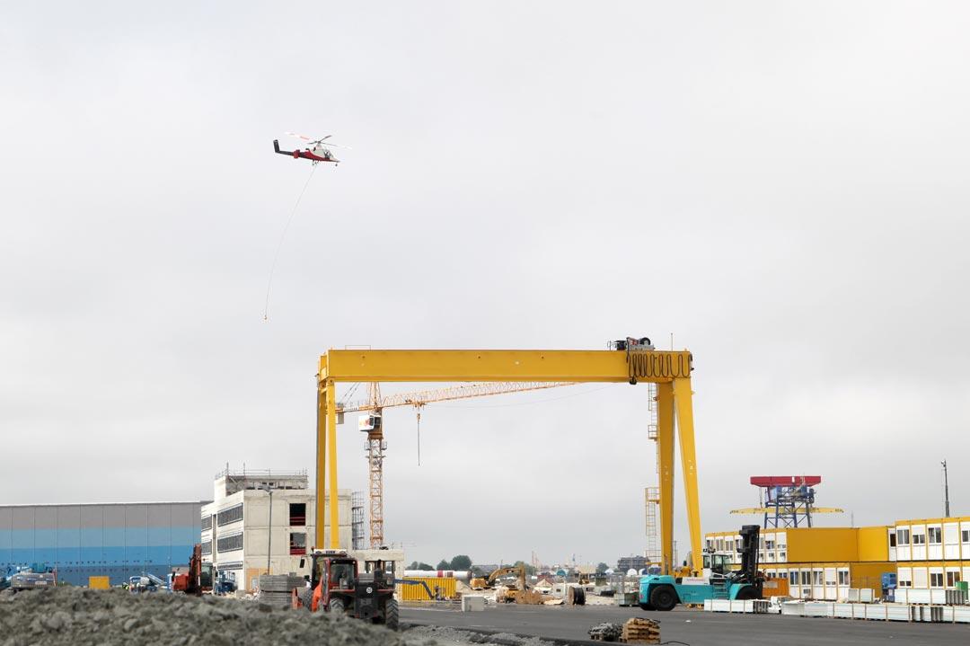 Lastenflug Siemens Cuxhaven