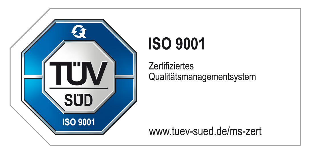 TÜV-Prüfzeichen ISO 9001