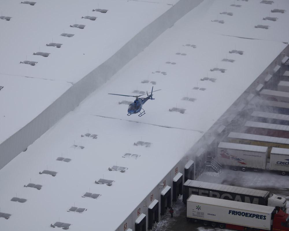 Schnee Hubschrauber