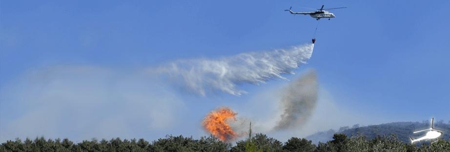 helikopter waldbrand loeschung