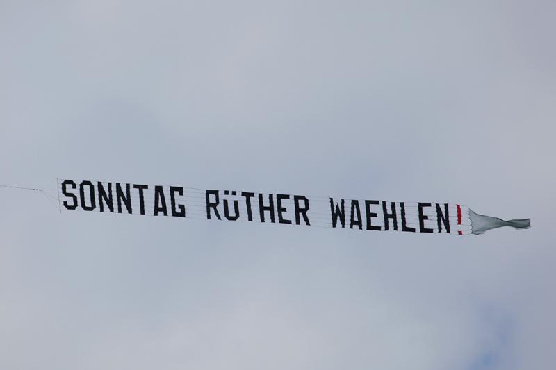 Banner: Sonntag Rüther wählen