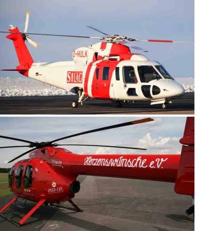 Branding Hubschrauber