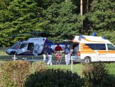 Helikopter-Ambulanzflug von Bonn zum Bodensee