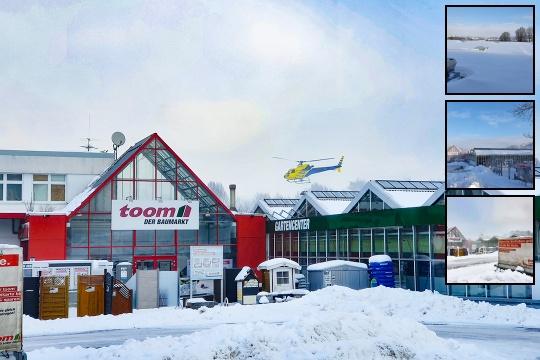 Schneeräumung für einen Baumarkt