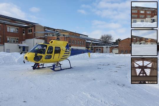 Schneeräumungsflug in Lutherstadt Eisleben