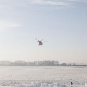 Winterliche Luftaufnahmen über NRW