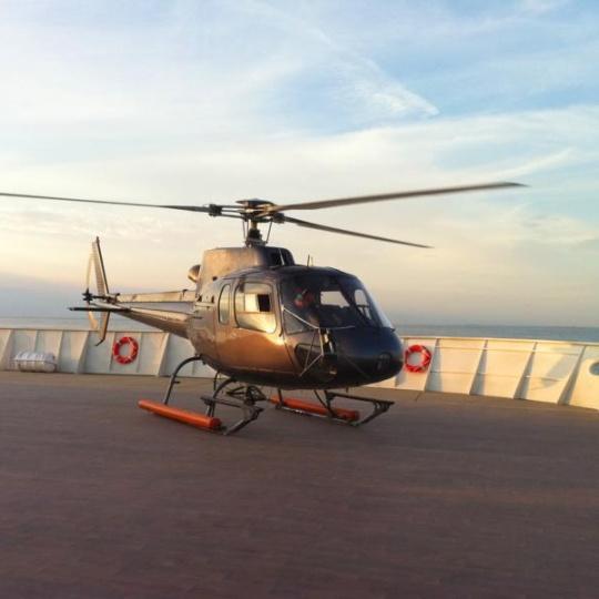 personen helikopter transfer