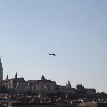 Cineflex-Hubschrauber in Budapest