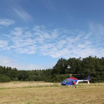 Hubschrauber Rundflugevent zum Firmenjubiläum