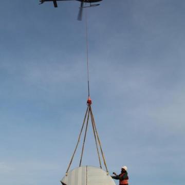 installation klimageraete helikopter
