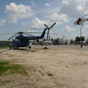 Abtransport von Ware via Hubschrauber
