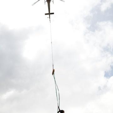 Lastenhelikopter-Einsatz in Chemnitz