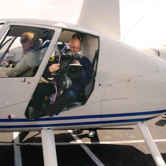 gyrostabilisierter film flug
