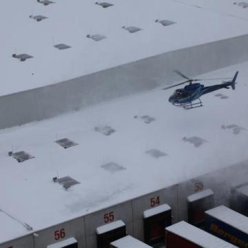 Schneeräumung vom Dach
