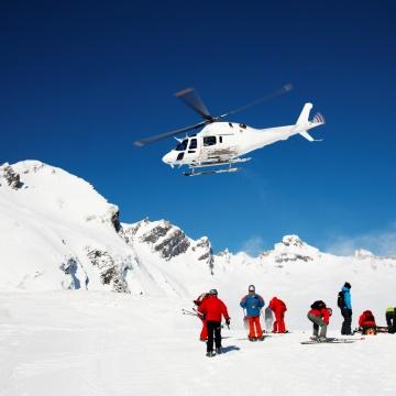rundflug im schnee