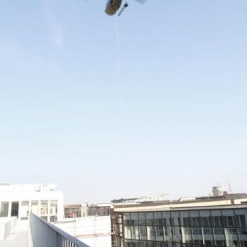 Lastenflug am Hauptbahnhof München
